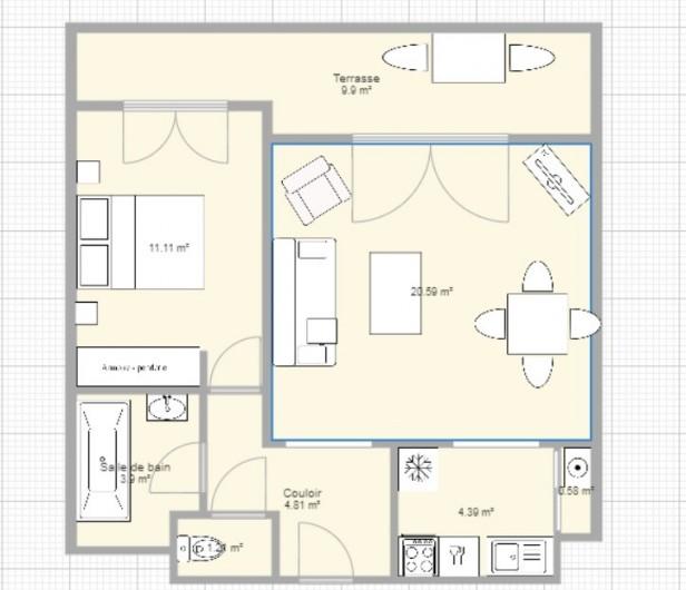 Location de vacances - Appartement à Ajaccio - Plan interieur