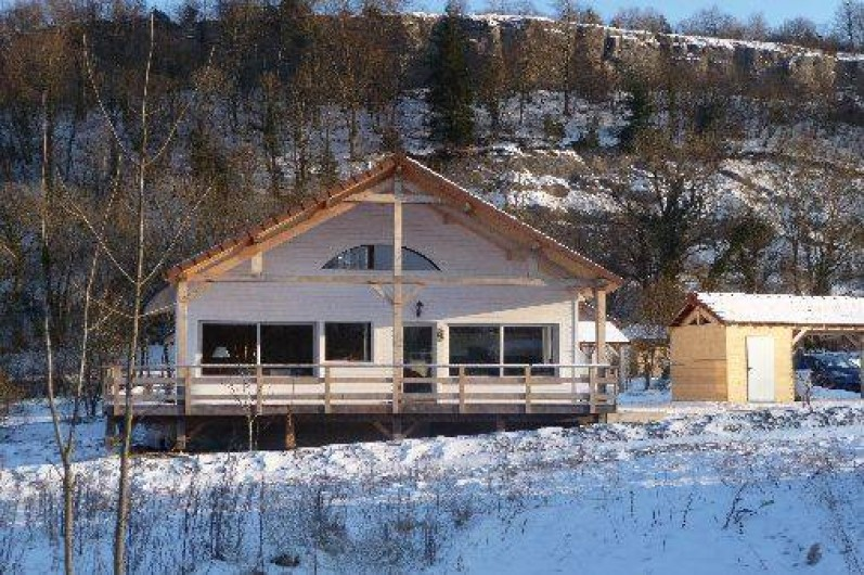 Location de vacances - Gîte à Doucier - Vue générale hiver