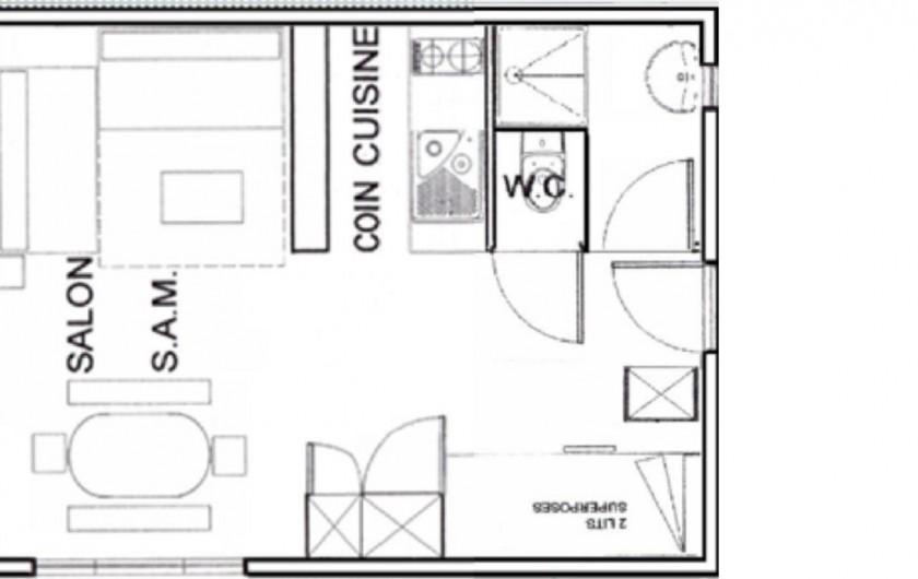 Location de vacances - Chalet à Saint-Lary-Soulan - Studio plan