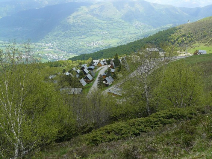 Location de vacances - Chalet à Saint-Lary-Soulan - Eté - Chalet vu du haut