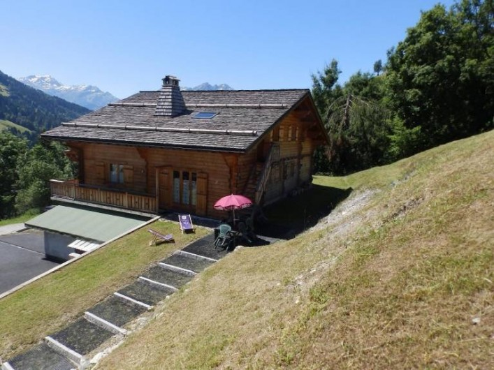 Location de vacances - Appartement à Hauteluce - Arrière du chalet, côté location