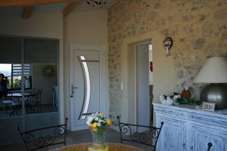 Location de vacances - Mas à Lagorce - entrée