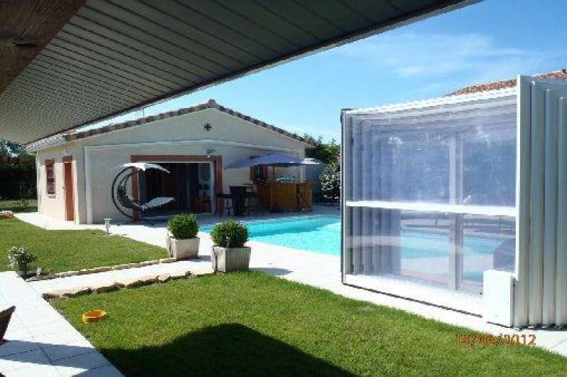 Location de vacances - Villa à Muret - Piscine abri ouvert