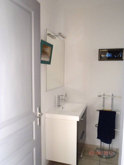 Location de vacances - Villa à Muret - Salle d'eau, douche wc dans le pool house