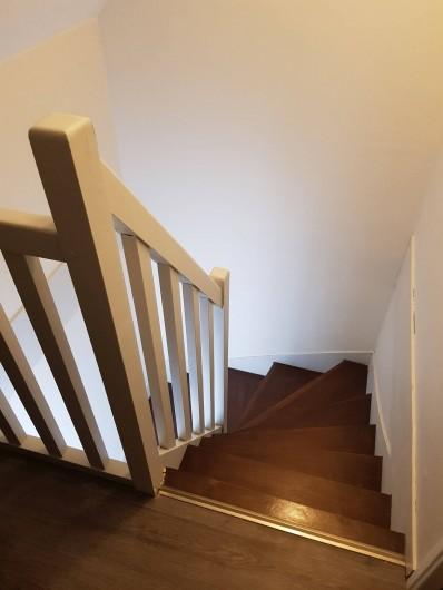Location de vacances - Appartement à Blonville-sur-Mer - Cage d'escalier de notre duplex