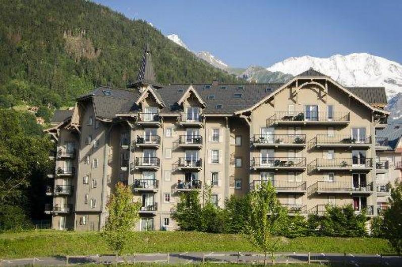Location de vacances - Appartement à Saint-Gervais-les-Bains - Résidence Le Grand Panorama en été