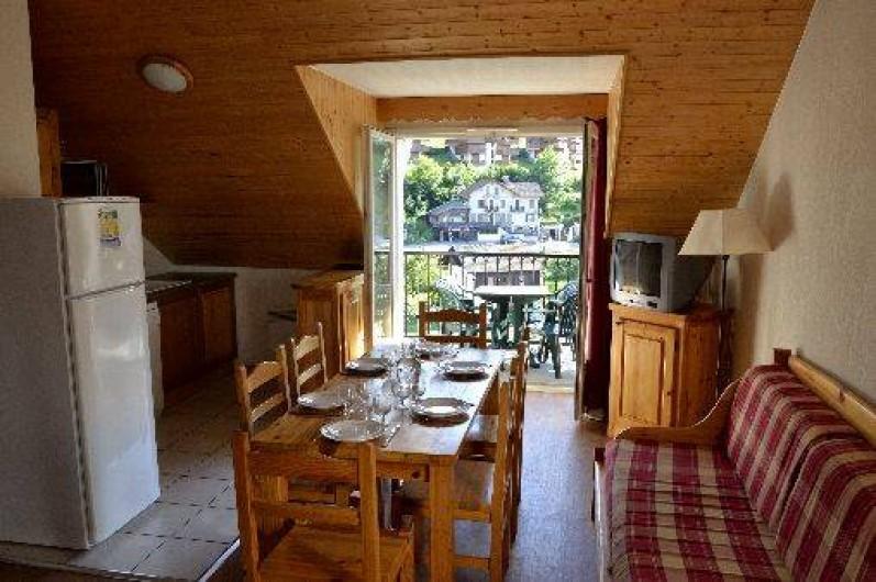 Location de vacances - Appartement à Saint-Gervais-les-Bains - Pièce à vivre