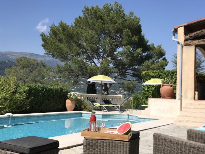 Location de vacances - Villa à Peymeinade - piscine vue Grasse