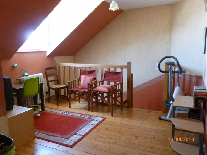 Location de vacances - Villa à Concarneau - mezzanine vélo appartement