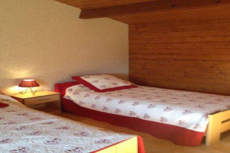 """Location de vacances - Gîte à Segonzac - Chambre """"colombard"""" 2 lits de 90cm"""
