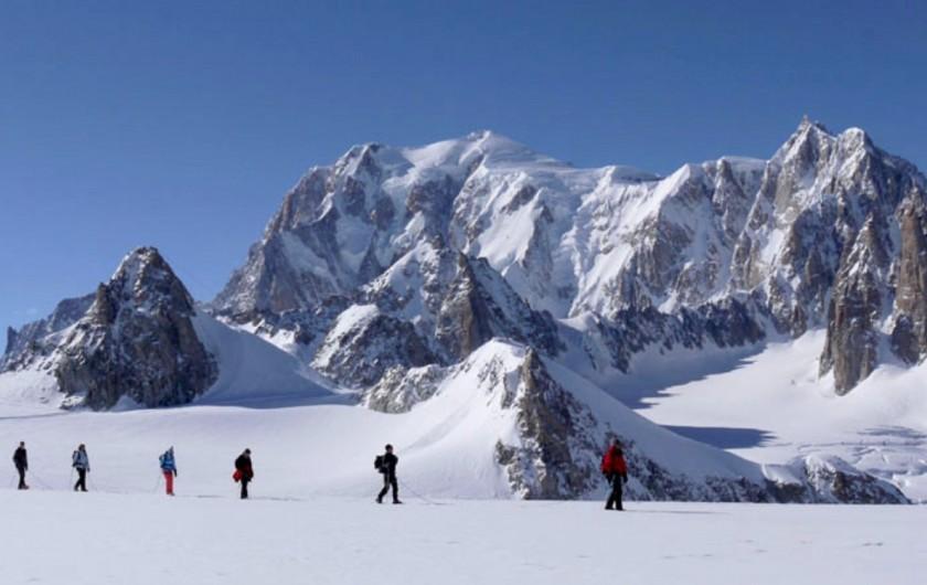 Location de vacances - Chalet à Servoz - Traversée, encordé, au coeur du massif du Mt Blanc.