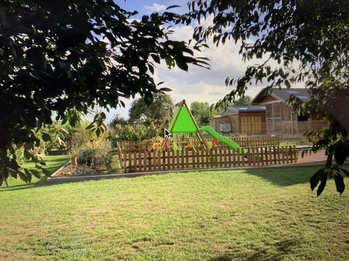 Location de vacances - Gîte à Omiécourt - Aire de jeux dans le jardin commun