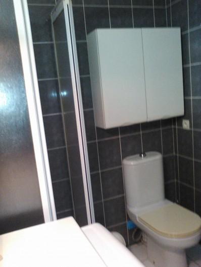 Location de vacances - Villa à Biscarrosse Plage - Salle de Bains 2 avec douche et WC et lave linge