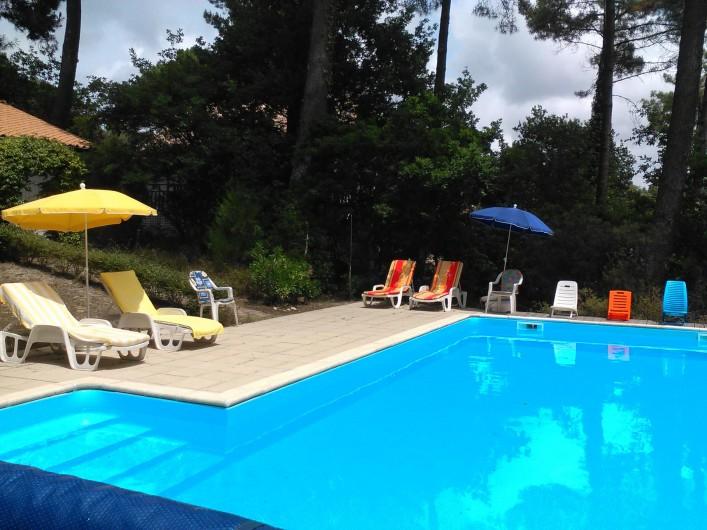 Location de vacances - Villa à Biscarrosse Plage - Piscine avec Terrasse soleil