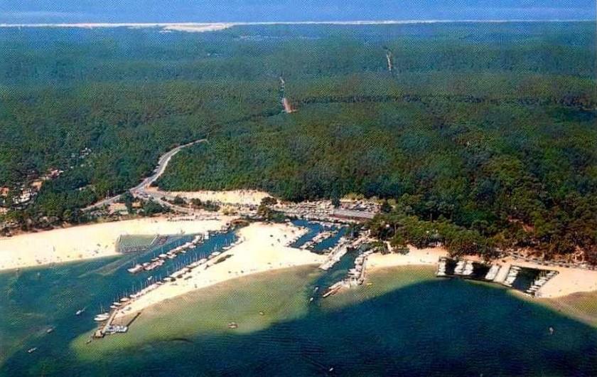 Location de vacances - Villa à Biscarrosse Plage - Lac de Caseaux et port Maguide, à l'horizont l'o´cean Atlantique
