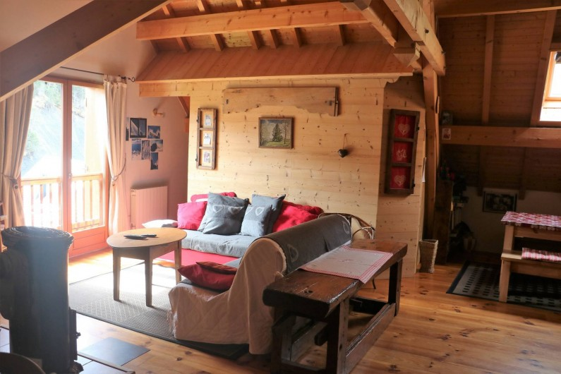 Location de vacances - Chalet à Saint-Jean-d'Arves - 2ème coin salon