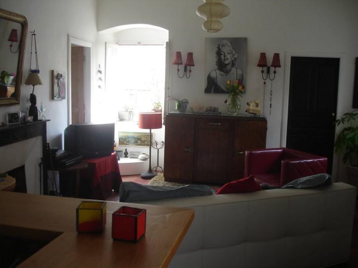 Location de vacances - Appartement à L'Île-Rousse - SALON/SEJOUR CANAPE LIT SIMPLE