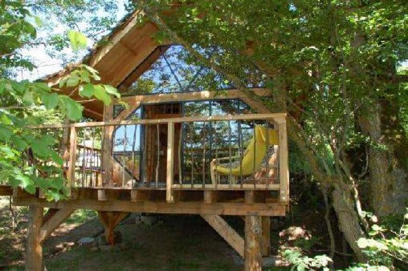 Location de vacances - Cabane dans les arbres à Freycenet-la-Cuche