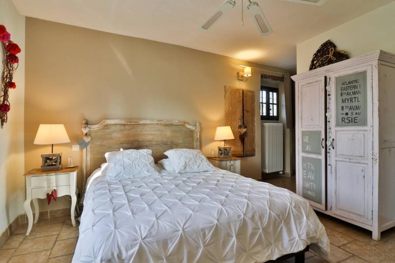 Location de vacances - Chambre d'hôtes à Pernes-les-Fontaines - Attrape Coeur 20m2 Vue jardin Douche italienne  1 vasque  Toilettes séparés