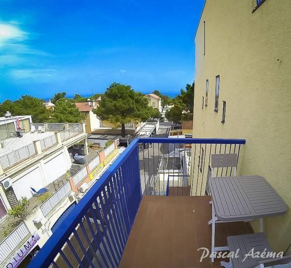 Location de vacances - Appartement à Argelès-sur-Mer - Balcon côté mer