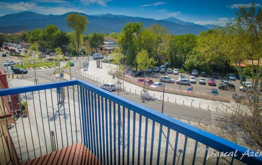 Location de vacances - Appartement à Argelès-sur-Mer - Balcon côté parking