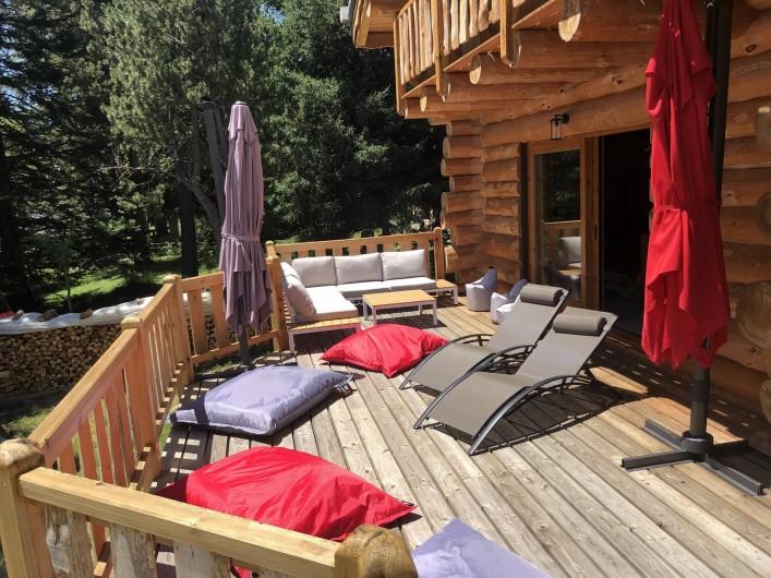 Location de vacances - Chalet à Bolquère - La terrasse en configuration repos