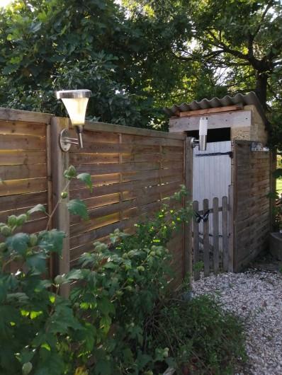 Location de vacances - Gîte à Vignonet - Entrée jardin privatif