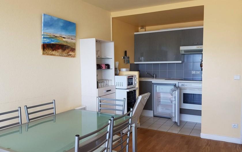 Location de vacances - Appartement à Wimereux - salle a manger   cuisine