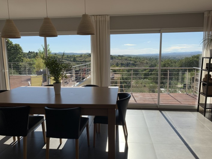 Location de vacances - Villa à Barjac - Vue séjour