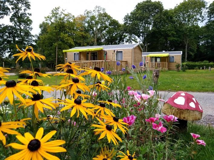 Location de vacances - Bungalow - Mobilhome à Priziac - mobilhomes 2 à 4 chambres camping le lac o fees camping nature