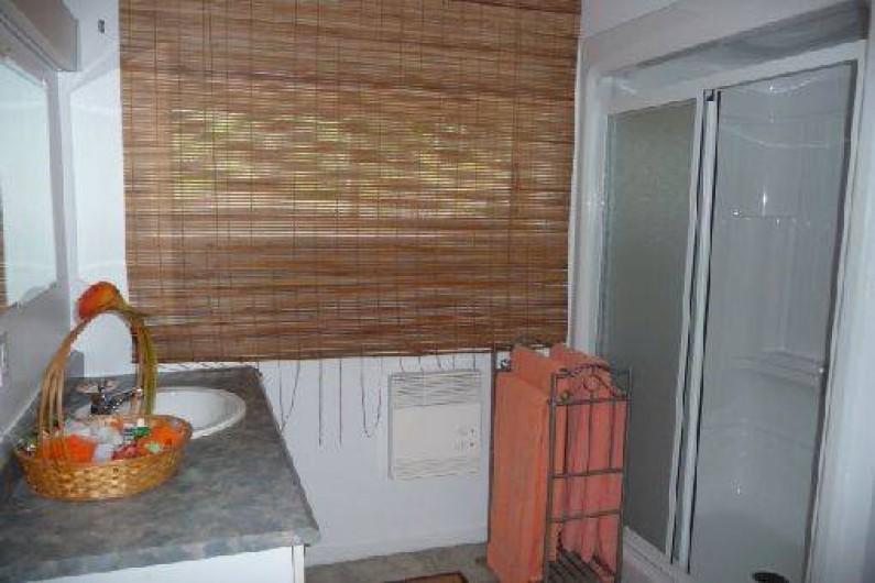 Location de vacances - Chalet à Franquelin - Salle de douche complète.