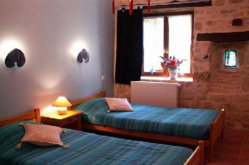 Location de vacances - Gîte à Mechmont - Chambre bleue