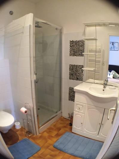 Location de vacances - Villa à Aix-les-Bains - La salle de bain douche wc du RDC 1