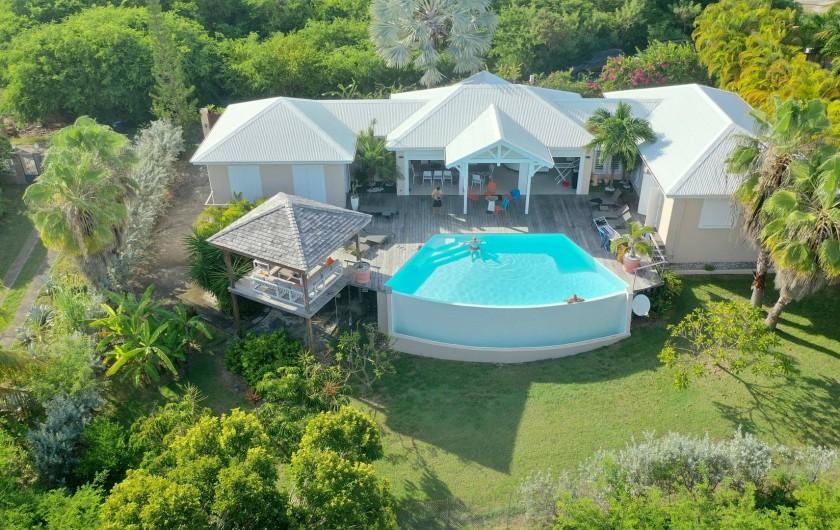 Location de vacances - Villa à Sainte-Anne - vue aérienne