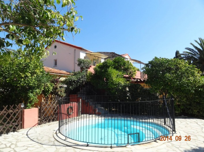 Location de vacances - Appartement à Le Lavandou - petite piscine