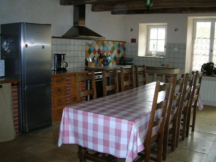 Location de vacances - Gîte à Chantraines - Grande cuisine/ salle à manger