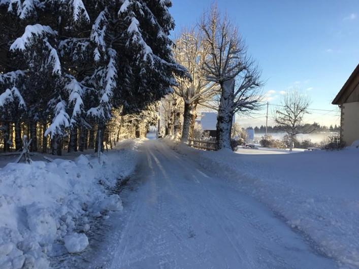 Location de vacances - Gîte à Fournet-Blancheroche - Sous la neige !