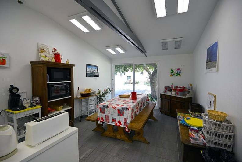 Location de vacances - Yourte à Guidel - Salle commune des Yourtes