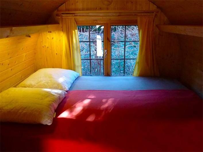 Location de vacances - Yourte à Guidel - Chambre Tonneau