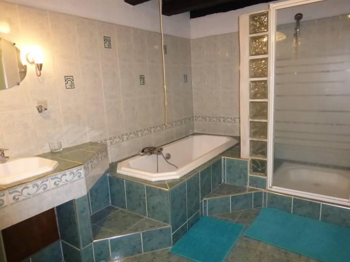 Location de vacances - Gîte à Saint-Hilaire-Peyroux - salle de bains principale