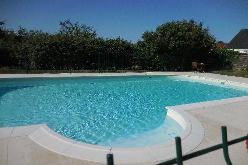 Location de vacances - Maison - Villa à Le Liège - la piscine chauffée et sécurisée fait 11m sur 5, 50m .