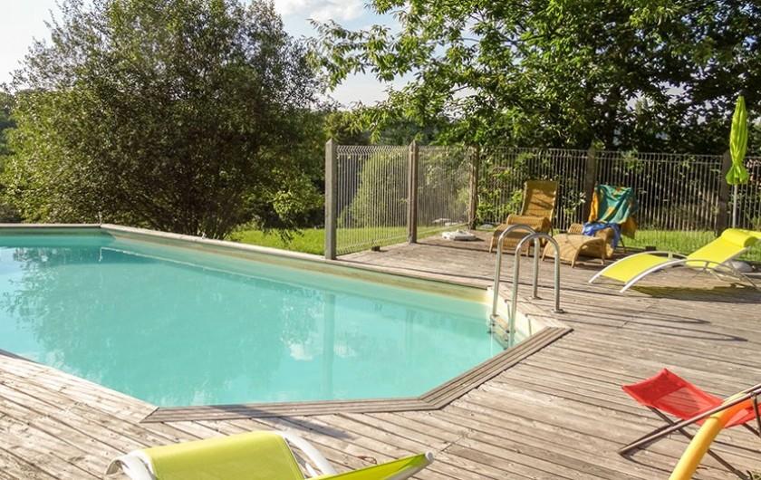 Location de vacances - Gîte à Bourrou - Piscine