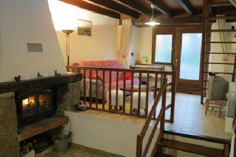 Location de vacances - Gîte à Saint-Pierre-de-Nogaret - Cheminée avec bois fourni gratuitement...