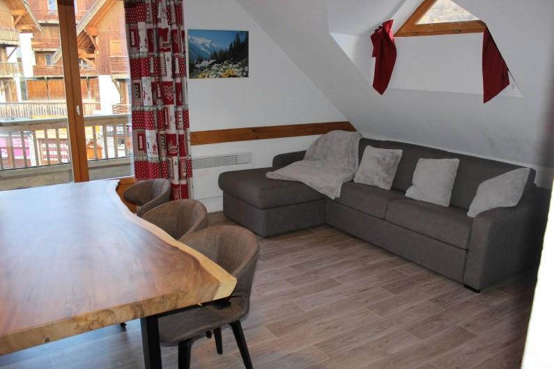 Location de vacances - Appartement à Saint-Sorlin-d'Arves - Canapé d'angle rapido