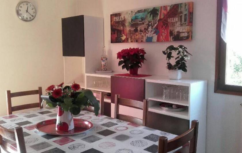Location de vacances - Villa à Hyères - salle à manger