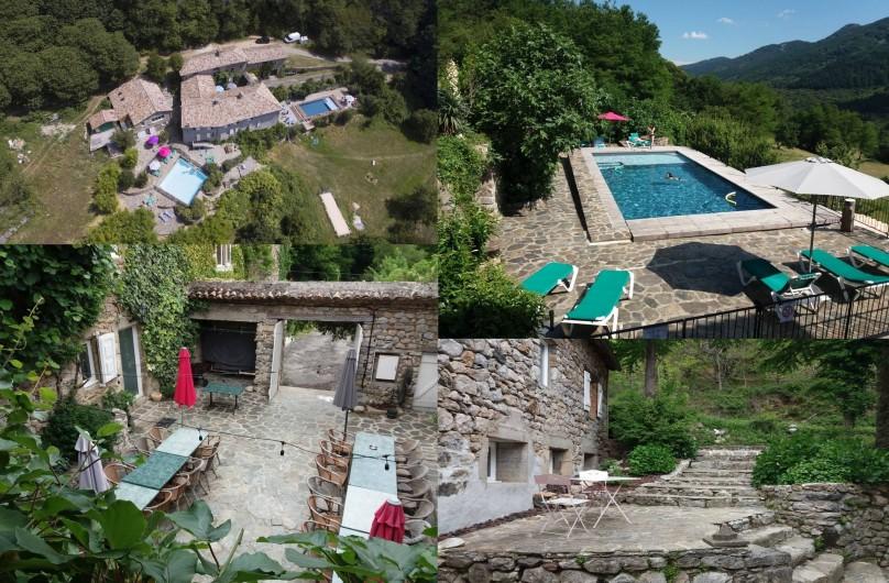 Location de vacances - Gîte à Valgorge - Les extérieurs du domaine.