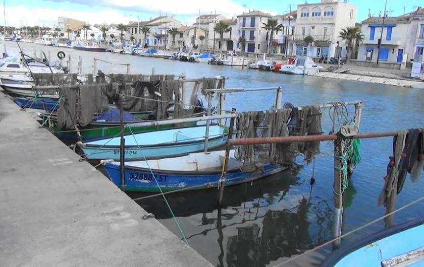 Location de vacances - Villa à Le Grau-du-Roi - Le port de pêche pittoresque du Grau Du Roi.
