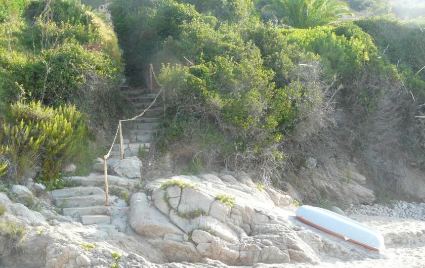 Location de vacances - Villa à Ajaccio - Accès de la villa à la plage