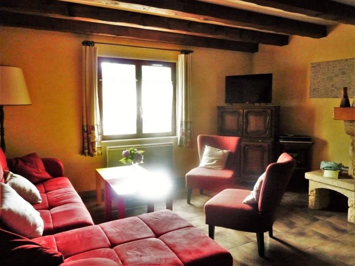 Location de vacances - Appartement à Ban-de-Laveline - coin salon moyen gîte
