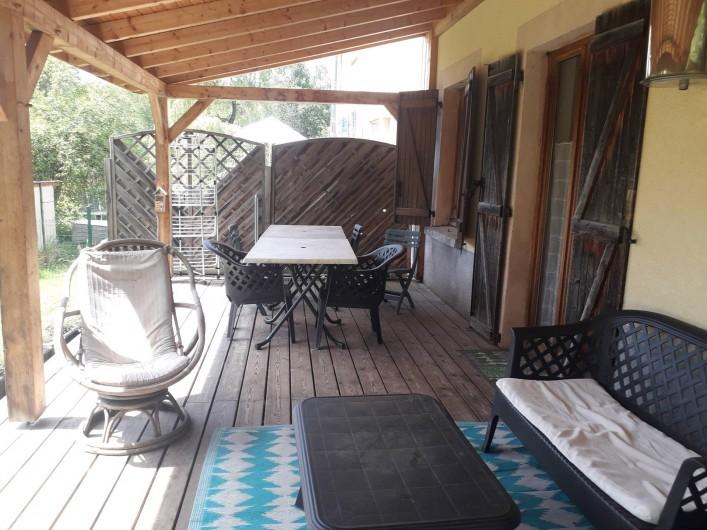Location de vacances - Appartement à Ban-de-Laveline - terrasse grand gite